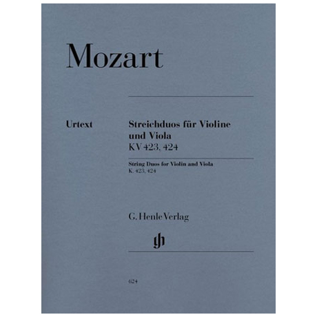 Mozart, W.A.: 2 Streichduos KV 423, 424 Urtext