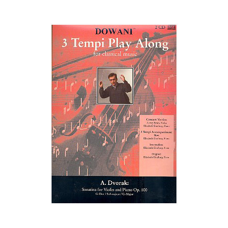 Dvořák, A.: Sonatine Op.100 G-Dur  - 3 Tempi Playalong 2CDs