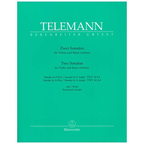 Telemann, G. Ph.: 2 Sonaten TWV 41: F4 / TWV 41: A6