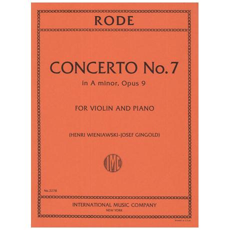 Rode, J. P.: Violinkonzert Nr. 7 Op. 9 a-Moll