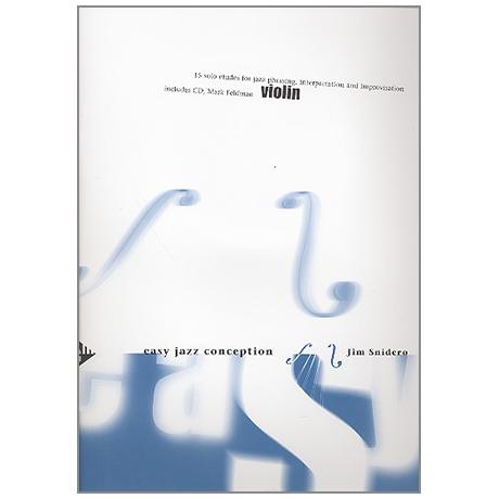 Snidero, J.: Easy Jazz Conception (+CD)