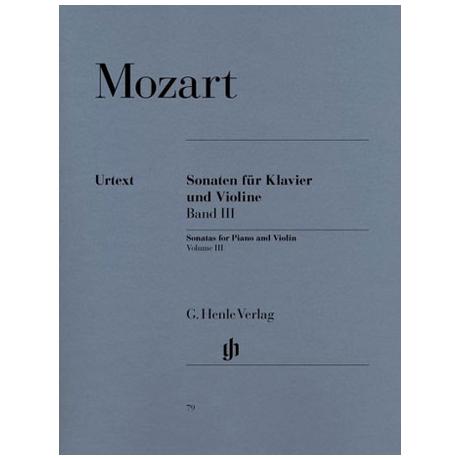 Mozart, W.A.: Violinsonaten Band 3