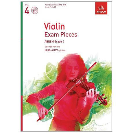 ABRSM: Violin Exam Pieces Grade 4 (2016-2019) (+CD)