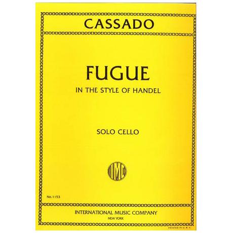 Cassado, G.: Fuge in C-Dur (über ein Thema von Händel)