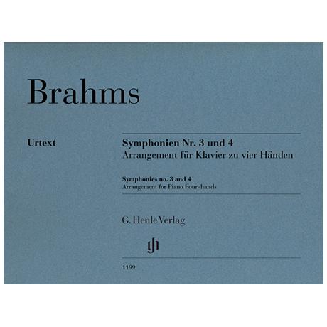 Brahms, J.: Symphonien Nr.3 und Nr.4