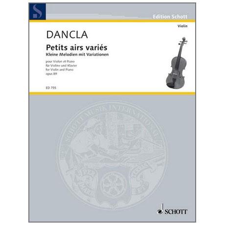 Dancla, J. B. C.: Petits airs variés sur des thèmes favoris Op. 89