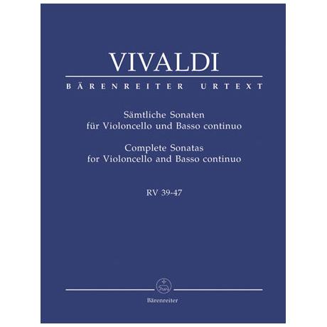 Vivaldi, A.: Sämtliche Sonaten RV 39-47