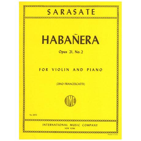Sarasate, P.d.: Habanera op. 21 Nr. 2