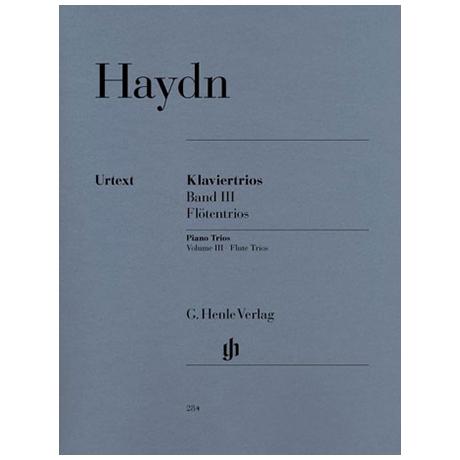 Haydn, J.: Klaviertrios Band 3, Hob XV: 15-17 (Flötentrios) Urtext