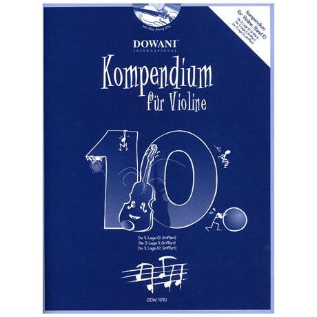 Kompendium für Violine - Band 10 (+CD)