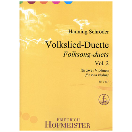 Schröder, H.: Volkslied-Duette Band 2