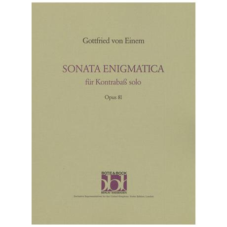 Einem, G. v.: Sonata enigmatica Op. 81