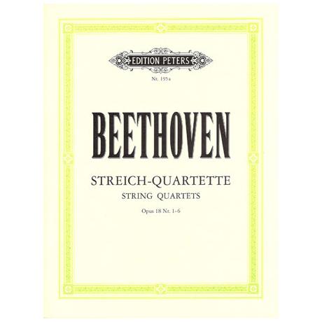 Beethoven, L.v.: Streichquartette Band 1, op. 18/1-6