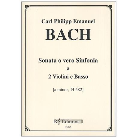 Bach, C.Ph.E.: Sonata o vero Sinfonia a-Moll H582
