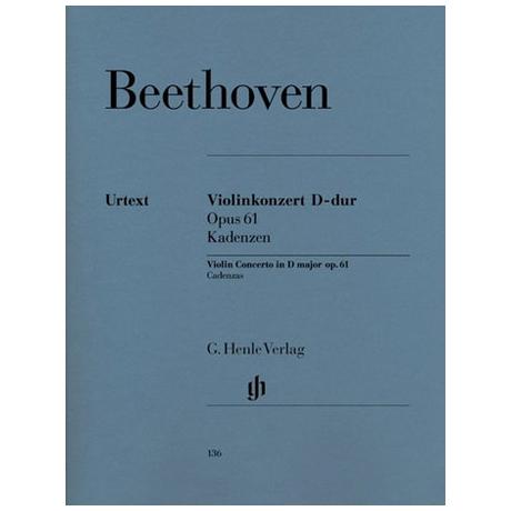 Beethoven, L.v.: Kadenzen zu Violinkonzert D-Dur Op. 61 (Schneiderhan)