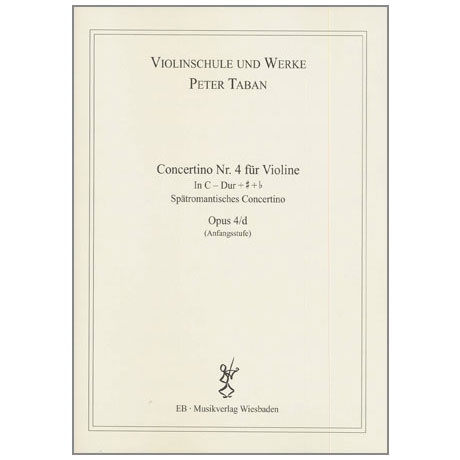 Taban, P.: Op. 4/d: Concertino Nr. 4 in C-Dur + # + b