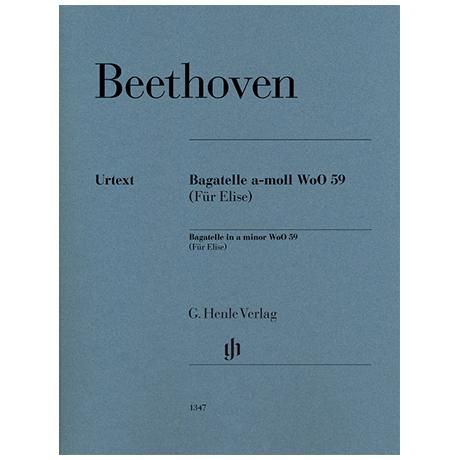 Beethoven, L. v.: Bagatelle a-Moll WoO 59 (Für Elise)
