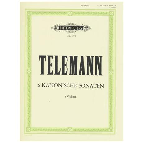 Telemann, G. Ph.: 6 kanonische Sonaten TWV 40:101-106