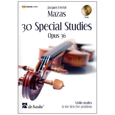 Mazas, J-F.: 30 special Studies op.36 (+ 2 CD's)