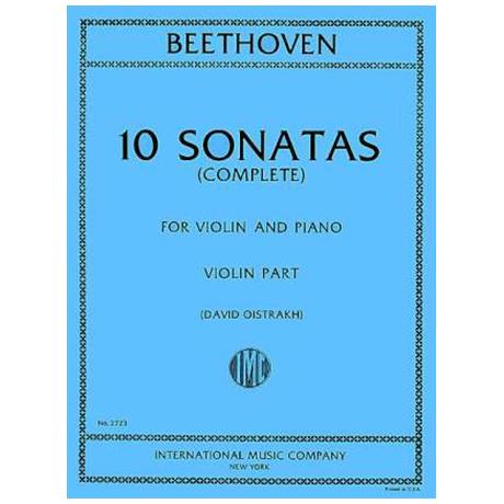 Beethoven, L.v.: 10 Sonatas (Oistrach)