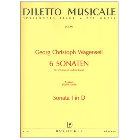 Wagenseil, G.C.: 6 Sonaten Band 1 Nr.1 D-Dur