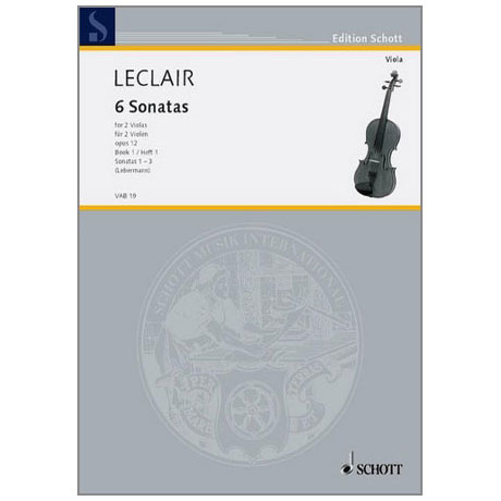 Leclair, J.M.: 6 Sonaten Band 1 (Nr.1-3)