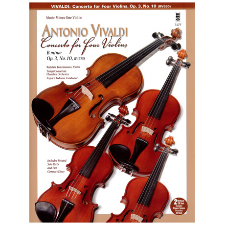 Vivaldi: Concerto for four Violins (+2CDs)