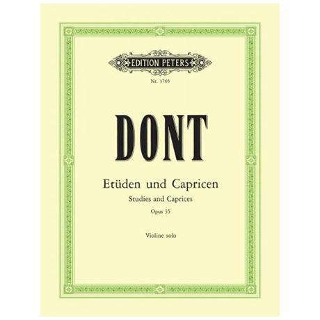 Dont: 24 Etüden und Capricen op. 35 (Sitt)