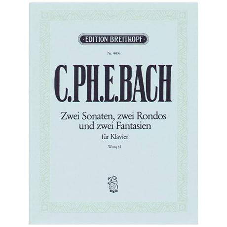 Bach, C.Ph.E.: Klaviersonaten und Freie Fantasien Wq 61