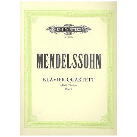 Mendelssohn Bartholdy, F.: Klavierquartett Nr. 3 h-Moll, Op. 3