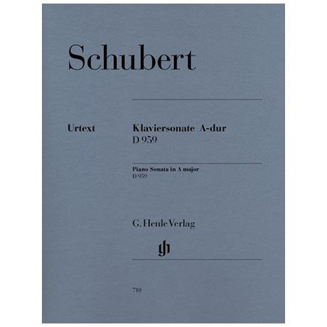Schubert, F.: Klaviersonate A-Dur D 959