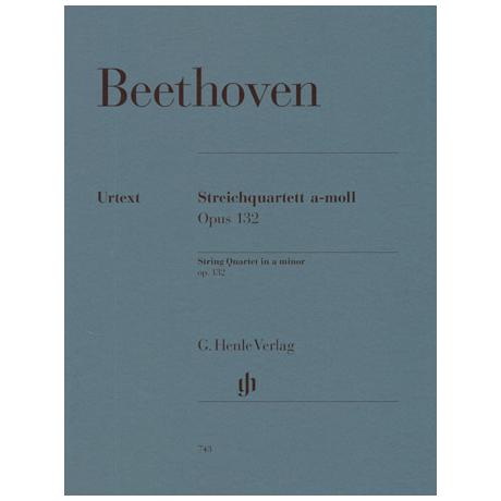 Beethoven, L.v.: Streichquartett a-Moll Op. 132 Urtext