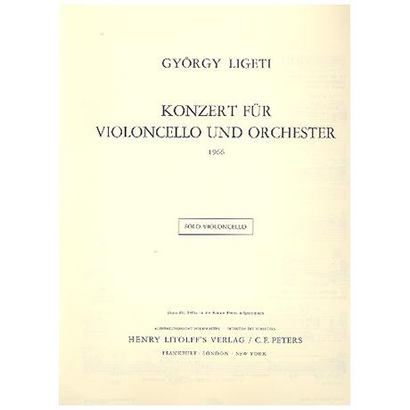 Ligeti, G.: Konzert für Violoncello und Orchester