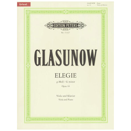 Glasunow, A.: Elegie g-Moll Op. 44