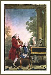 Postkarte 3 Mozarts