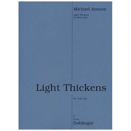 Amann, M.: Light Thickens