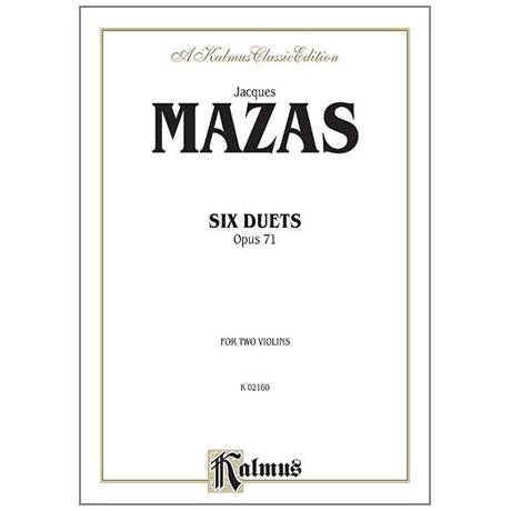 Mazas, J. F.: Sechs Duette Op. 71