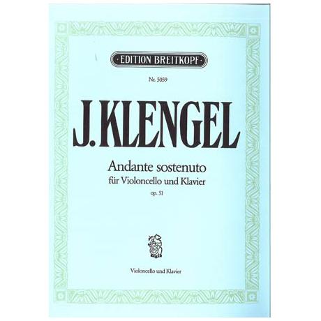 Klengel, J.: Andante sostenuto op. 51 für Vc + Orchester