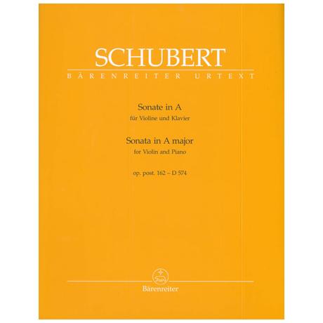 Schubert, F.: Sonate in A-Dur op.post.162 - D 574