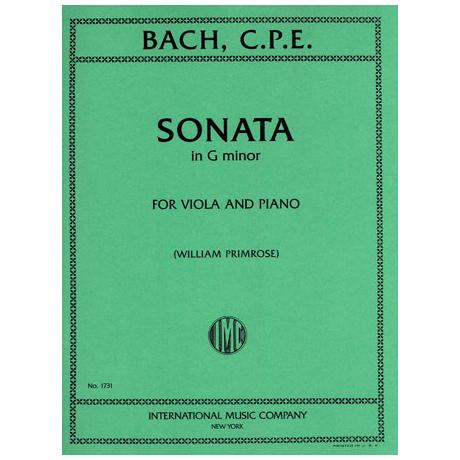 Bach, C. Ph. E.: Violasonate in g-moll