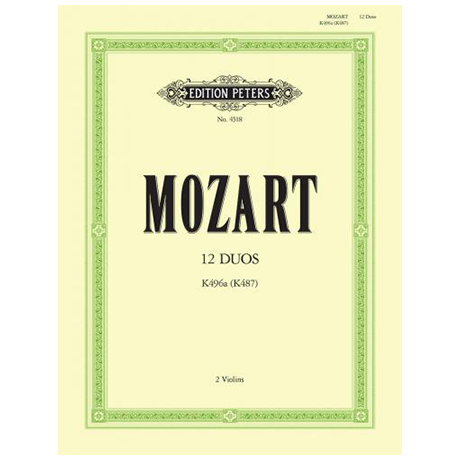 Mozart, W.A.: 12 leichte Duos KV 487