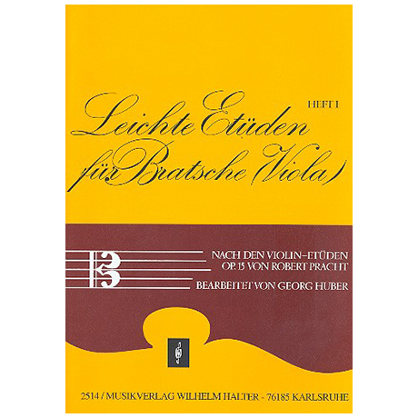 Pracht, R.: Leichte Etüden nach den Violinetüden Op.15 Band 1