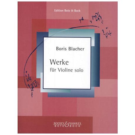 Blacher, B.: Werke