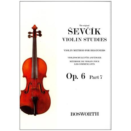 Sevcik, O.: Violinschule für Anfänger op. 6 Heft 7