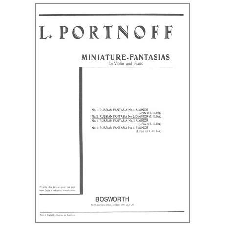 Portnoff, L.: Russische Fantasie in d-Moll Nr. 2
