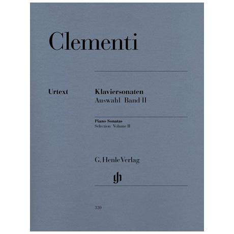 Clementi, M.: Klaviersonaten Auswahl Band II 1790-1805