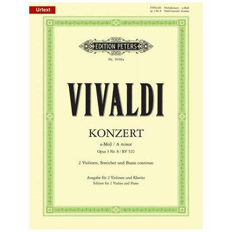 Vivaldi, A.: Violinkonzert Op. 3 Nr. 8 a-Moll