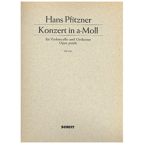 Pfitzner, H.: Konzert a-moll Op.posth