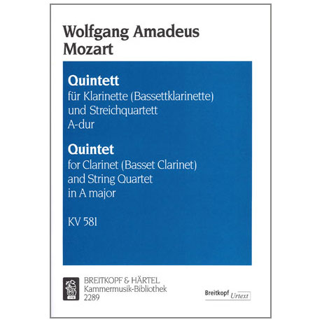 Mozart, W.A.: Quintett A-Dur, A47KV 581