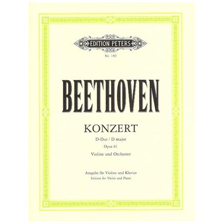 Beethoven, L.v.: Violinkonzert D-Dur, op. 61 mit Kadenzen